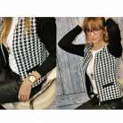 New Fashion Womens Long Sleeve Slim Casual Plaid Jacket Blazer Suit Coat Outwear