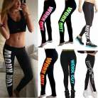 Women Workout YOGA Running Sport Pants High Waist Cropped Leggings Fitness