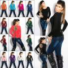 Sexy Ladies Clubbing Leo Top Women Shirt Jumper Pullover Size 6 8 10 12 Sweater