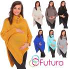 Practical Maternity Thick Heavy Poncho Jersey Warm Jumper Coat Size 8-14 FAS09
